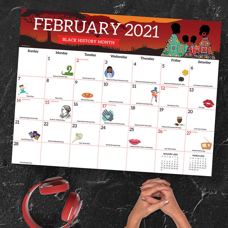 2021 Every Day'S A Holiday Large Desk Pad Monthly Calendar With Regard To Every Day A Holiday Calendar