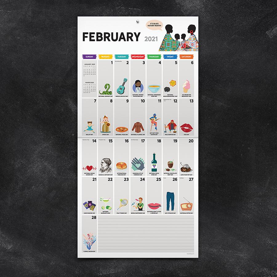 2021 Every Day'S A Holiday Wall Calendar | Walmart Canada Within Every Holiday Calendr