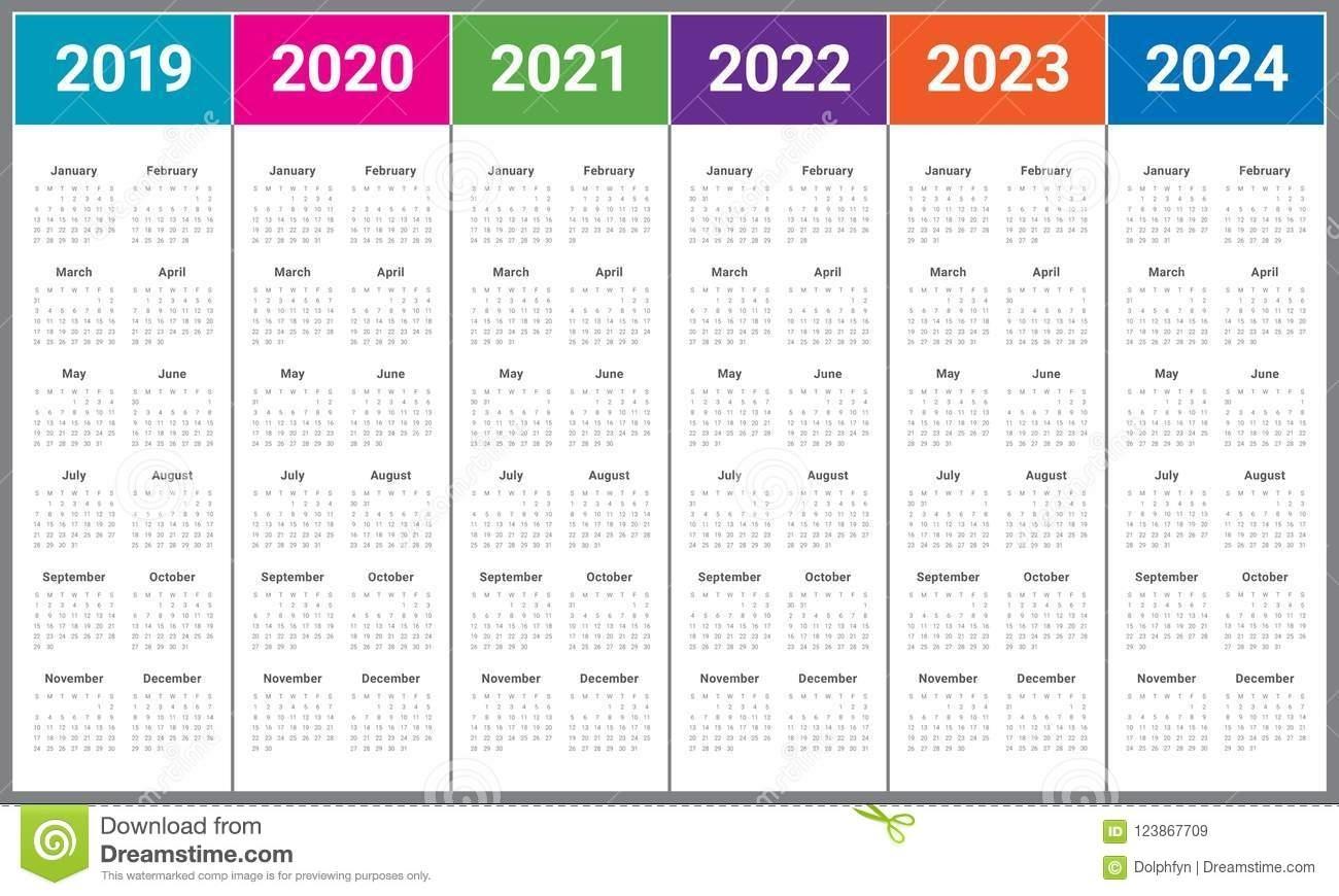 3 Year Calendar 2022 To 2024   Ten Free Printable Calendar Regarding 4 5 4 Retail Calendar 2019 2022