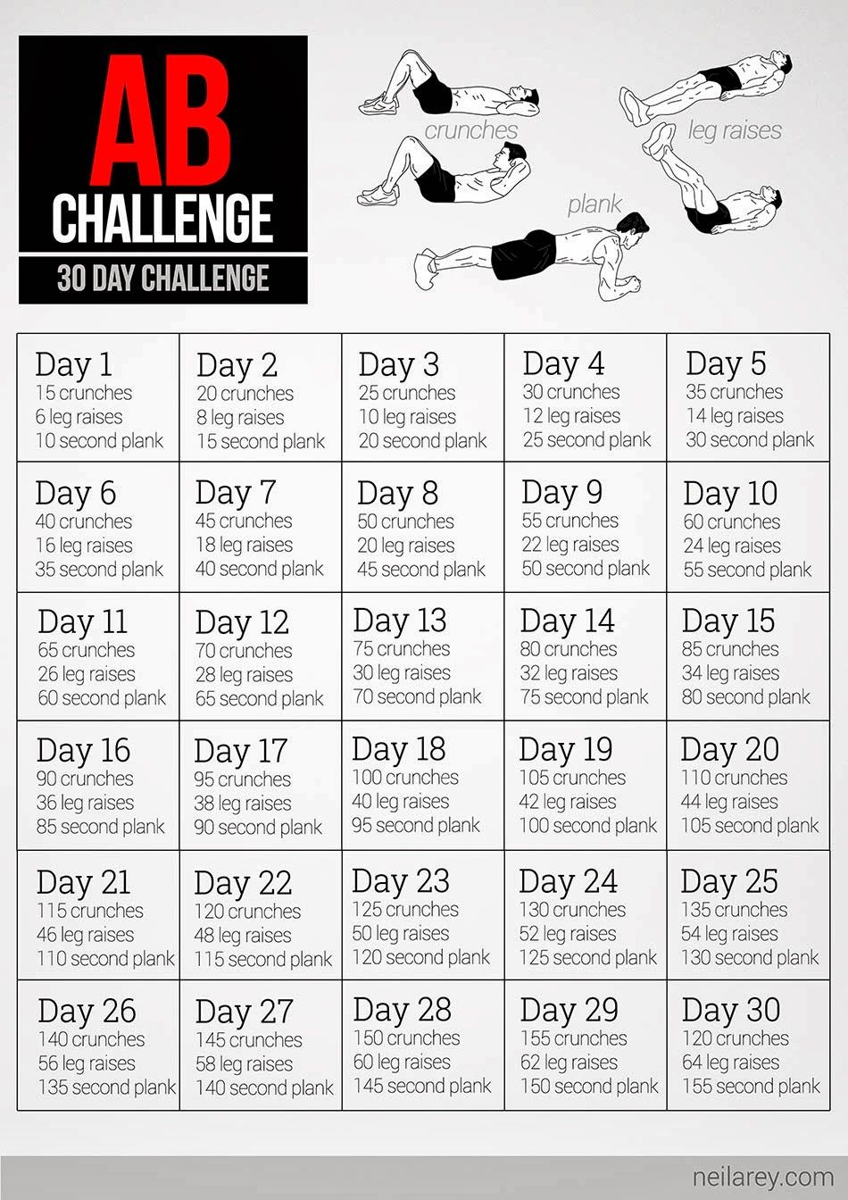 30 Day Abs Challenge Pdf – Google Search | Abs Workout With Regard To 30Days Abs Challenge Printable