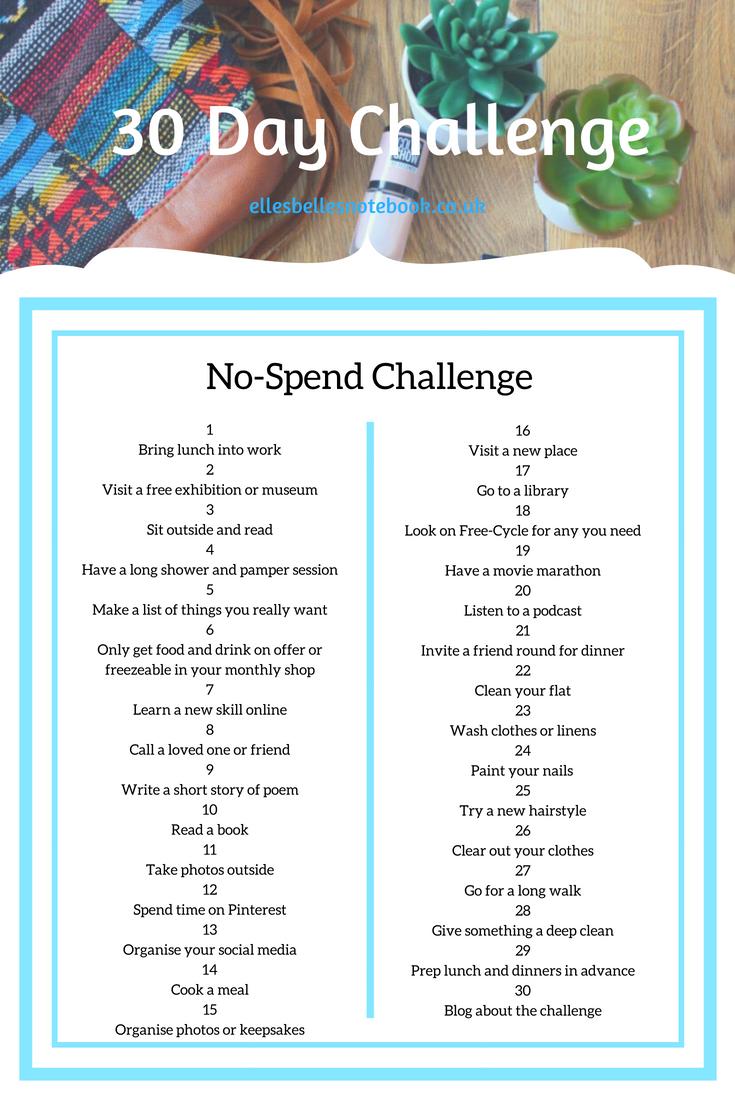 30 Day Challenges | I Challenge You! - Ellesbellesnotebook With 30 Day Squat Challenge Excel