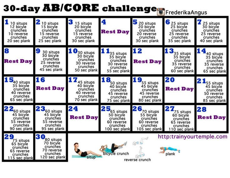 30 Day Core Challenge For Beginners – Google Search | Core Regarding 30Days Abs Challenge Printable