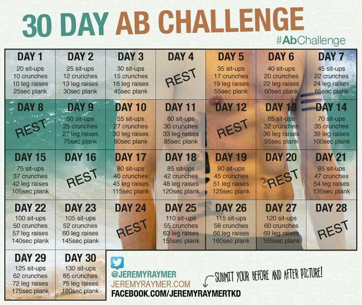 30 Days Ab Challenge.   30 Day Ab Challenge, Ab Challenge Pertaining To 30 Day Sit Up Challenge Pdf