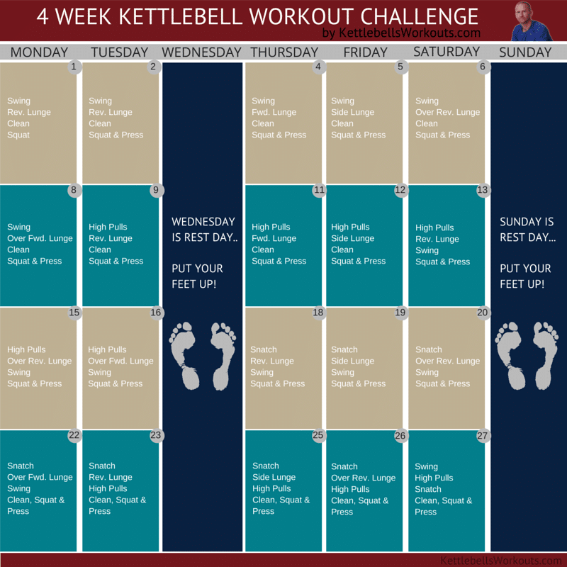 4 Week Kettlebell Workout Challenge | Join In The Fun Within 30 Day Squat Challenge Excel