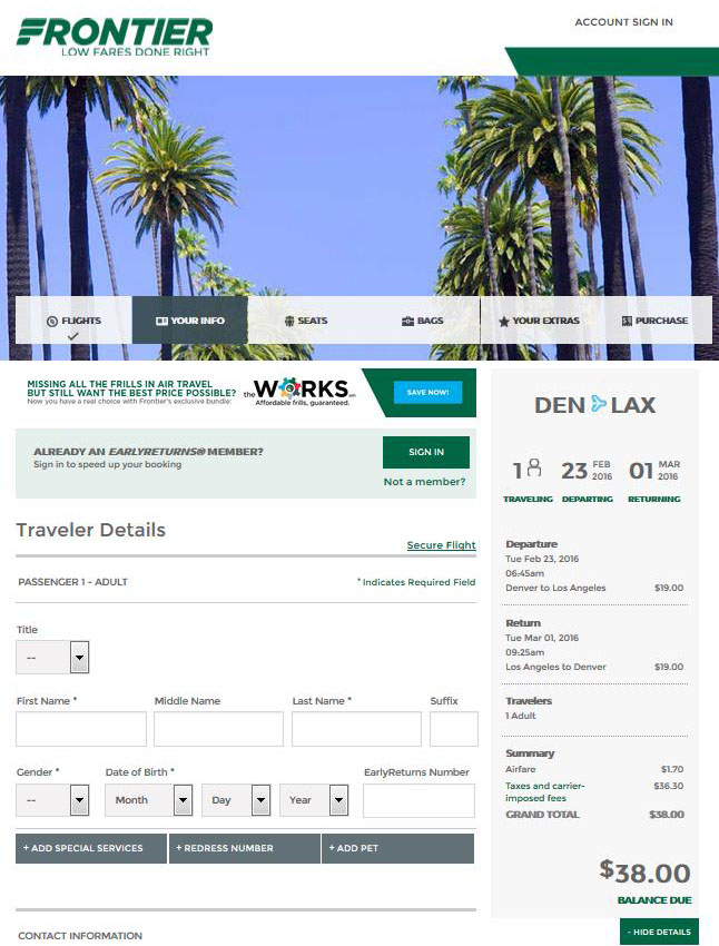 $44 $68    Denver To 16 Cities Nonstop, Ends Tonight (R/T With Frontier Airlines Deals Calendar