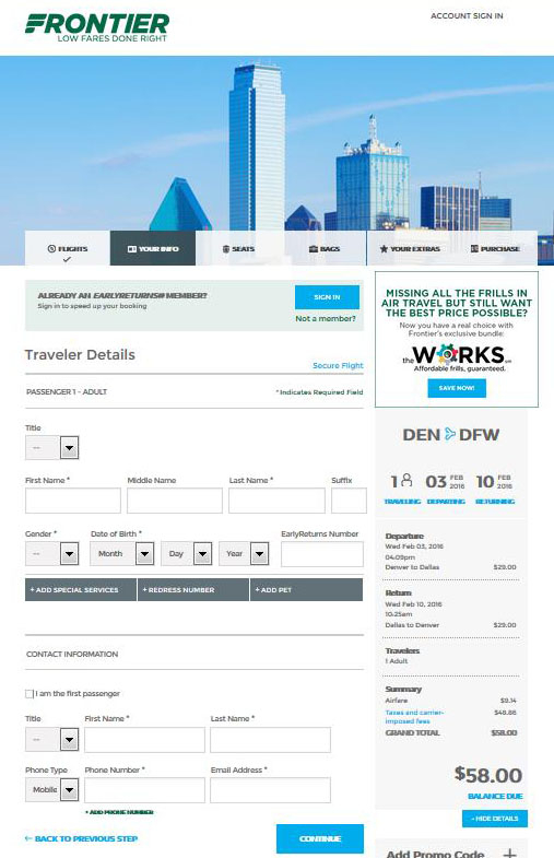 $58 $98    Denver To 12 Cities Nonstop (R/T) | Fly With Regard To Frontier Airlines Deals Calendar