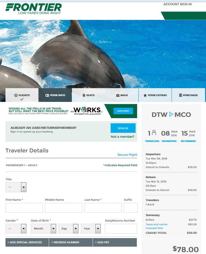 $78 — Detroit To Orlando Nonstop Into March, Incl Regarding Frontier Airlines Deals Calendar