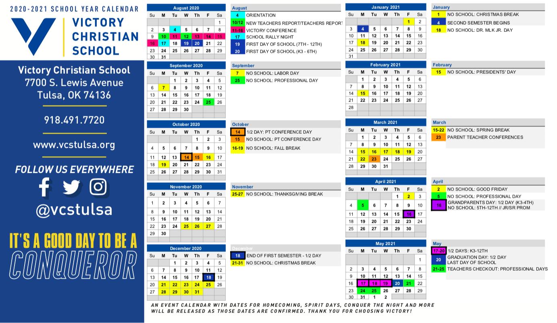Academic Calendar 2021 Tulsa University   Printable Throughout Aiken County Public School Calendar 2021