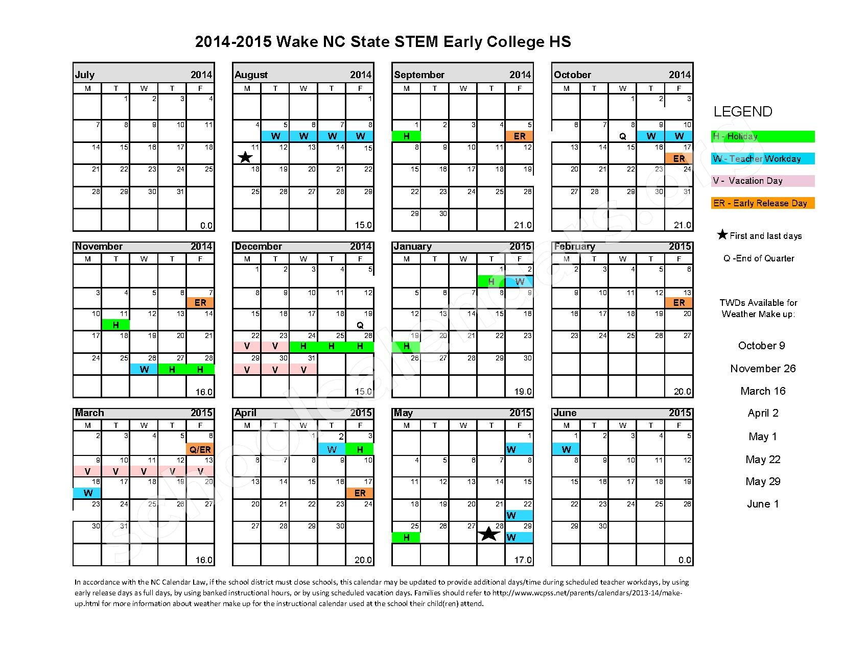 Academic Calendar Ncsu – Time Table With Regard To Wake County Track Out Calendar