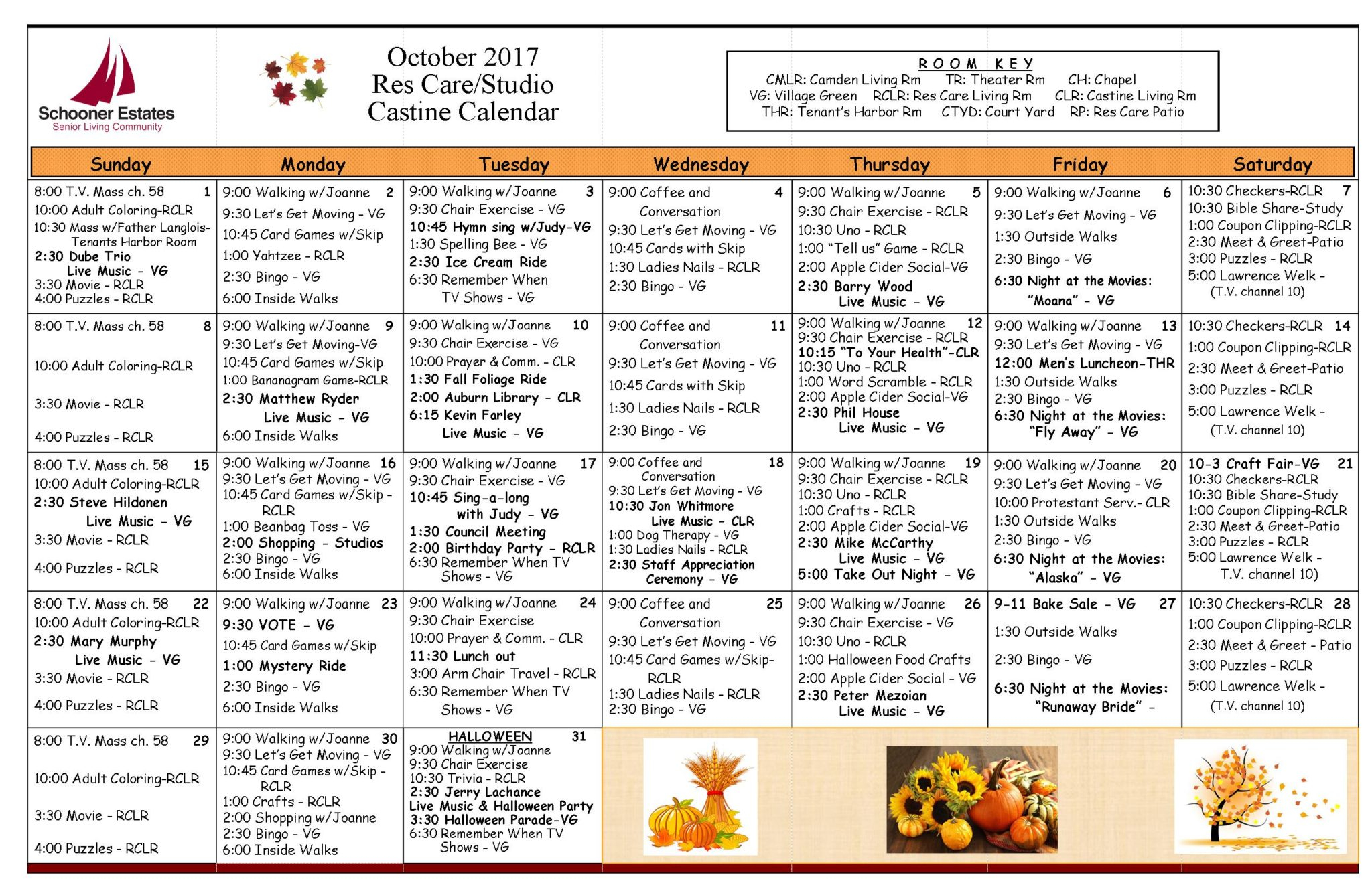 Activity Calendars In Assisted Living Calendars