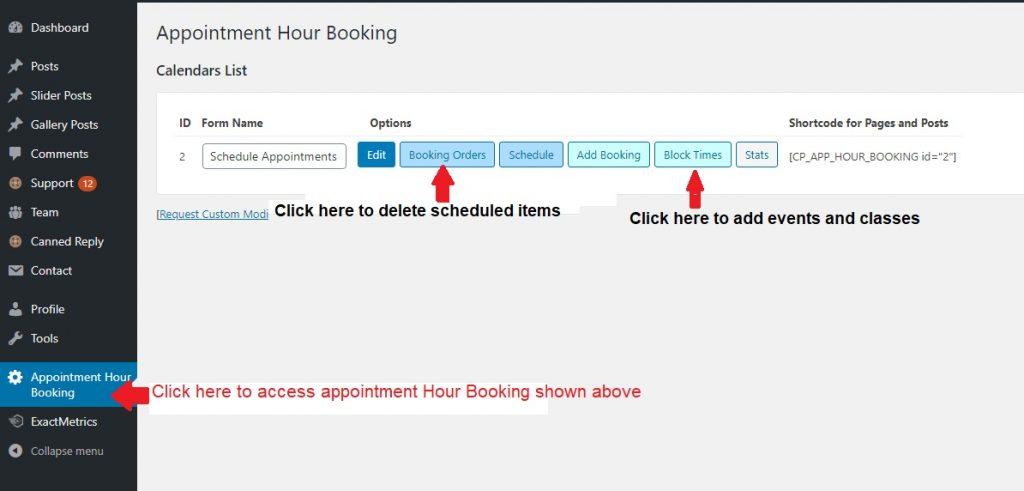 Appointment Hour Booking Screenshot | Hilton Head Island For Sun City Hilton Head Calendar 2021