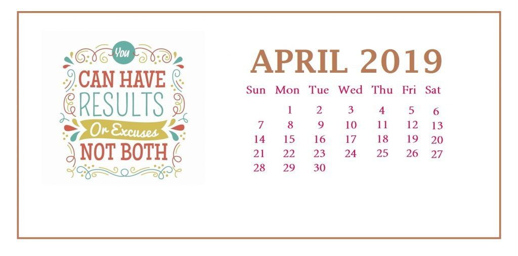 April 2019 Quotes Desk Calendar | Desk Calendar Template throughout April Quotes And Sayings For Calendars