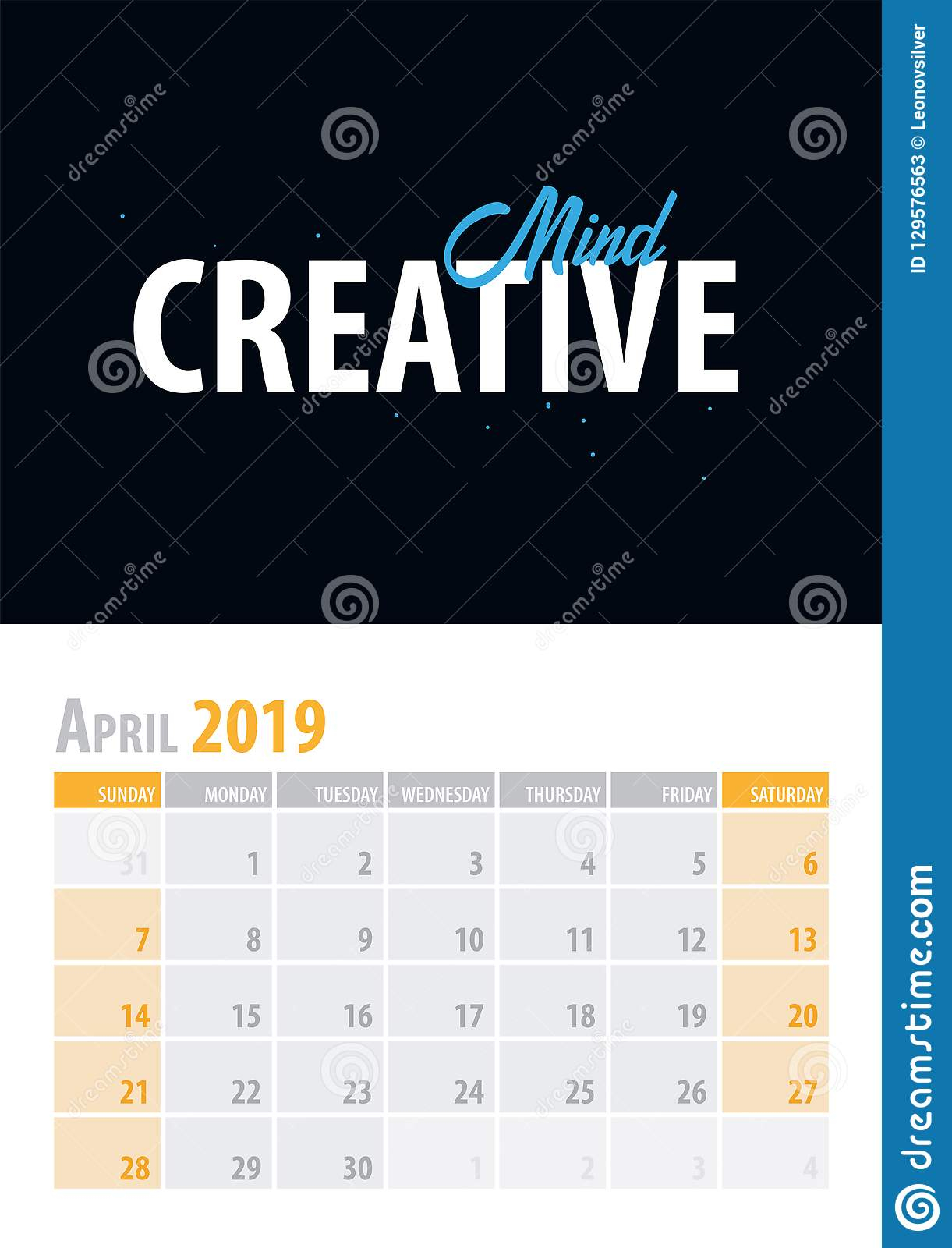 April. Calendar Planner 2019 With Motivational Quote On Inside April Quotes And Sayings For Calendars