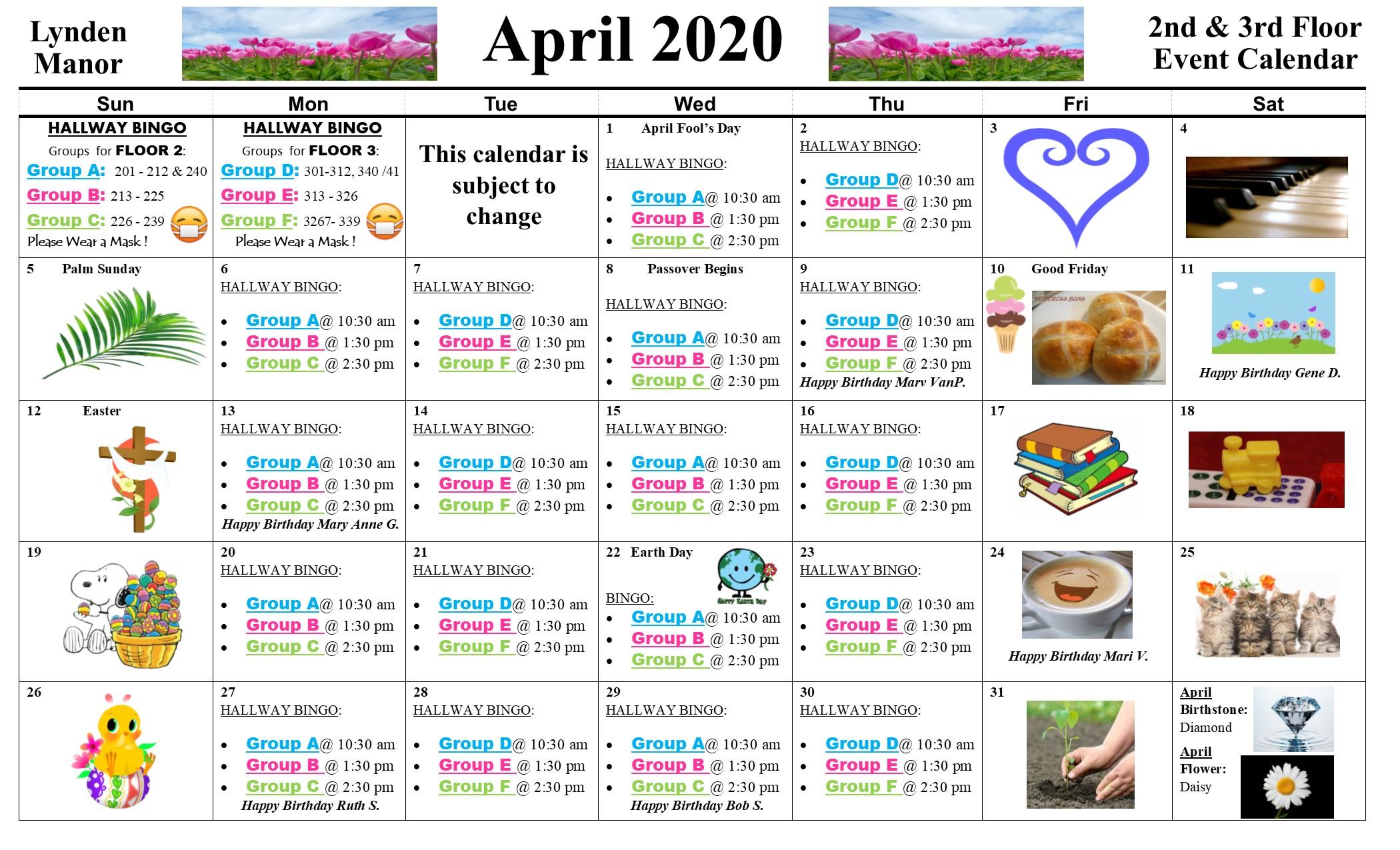 Assisted Living Activity Calendar – Lynden Manor In Assisted Living Calendars
