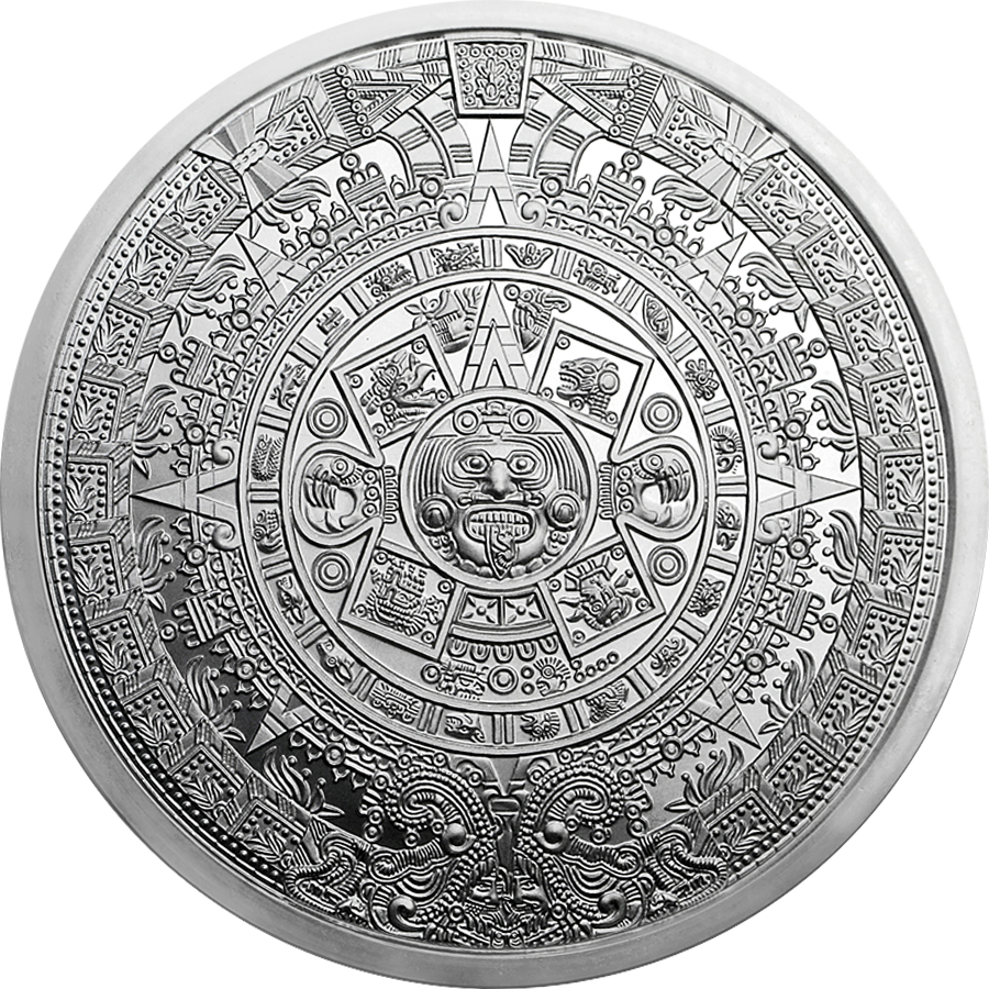 Aztec Calendar 5Oz Silver Round – Free Insured Delivery Intended For 60 Calendar Days Back From Today