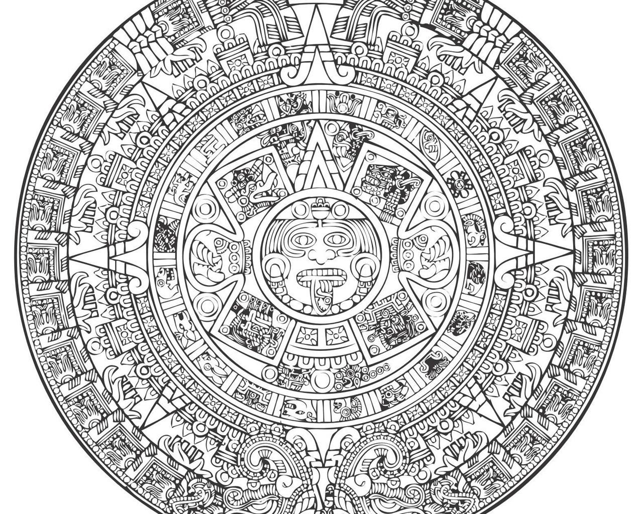 Aztec Calendar Vector [Eps File] Vector Eps Free Download, Logo  Desktop Background Regarding Mexican Calendar Names