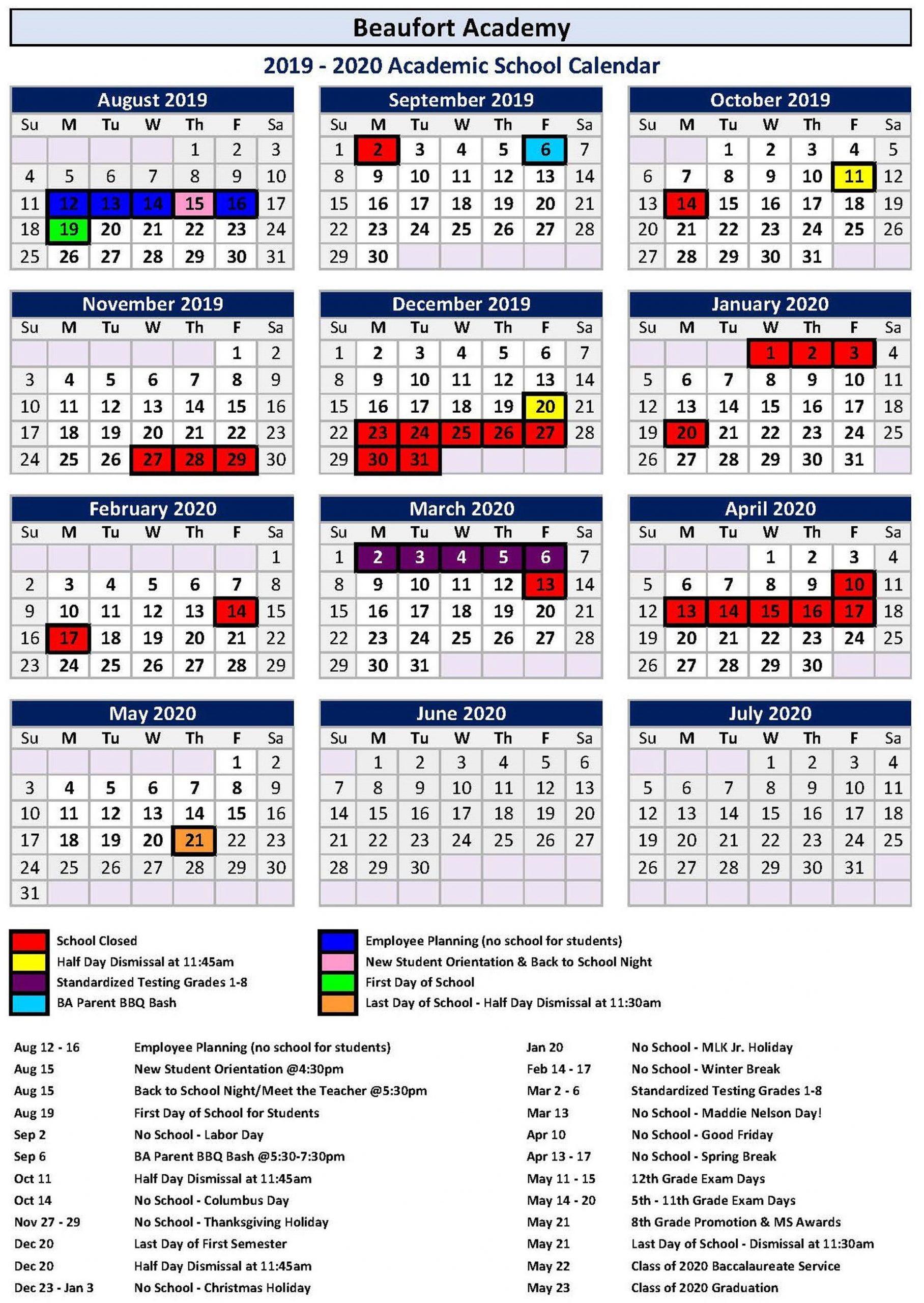 Calendar 2021 For Hilton Head Sc | Printable Calendar 2020 Within Fort Worth Isd Calendar 2021