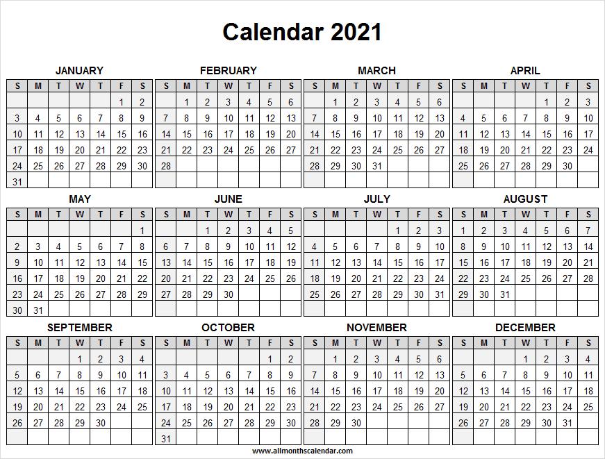 Calendar 2021 Full Year Free – Free Printable Calendar Throughout Printable Sunrise And Sunset Calander 2021