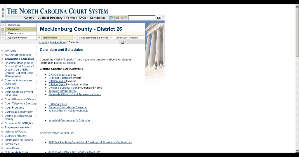 Calendars District And Superior Court Query - Calendar Within District And Superior Court Calendar Nc