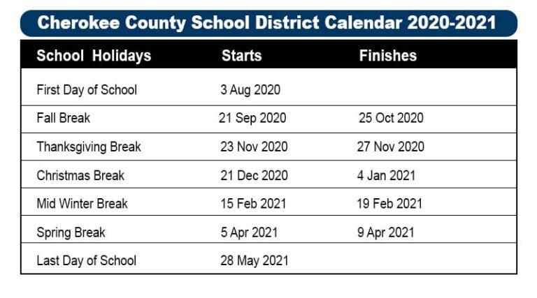 Cherokee County School District Calendar 2021 2022😊 Inside 2021 2022 Aiken County Public School Calendar