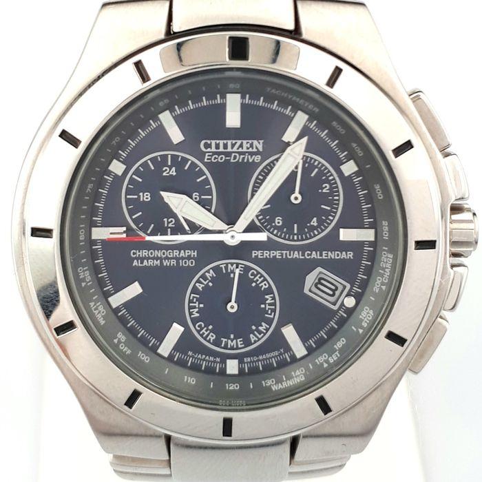 Citizen - Eco-Drive Chronograph Alarm Wr 100 Perpetual for Citizen Wr100 Chronograph Manual