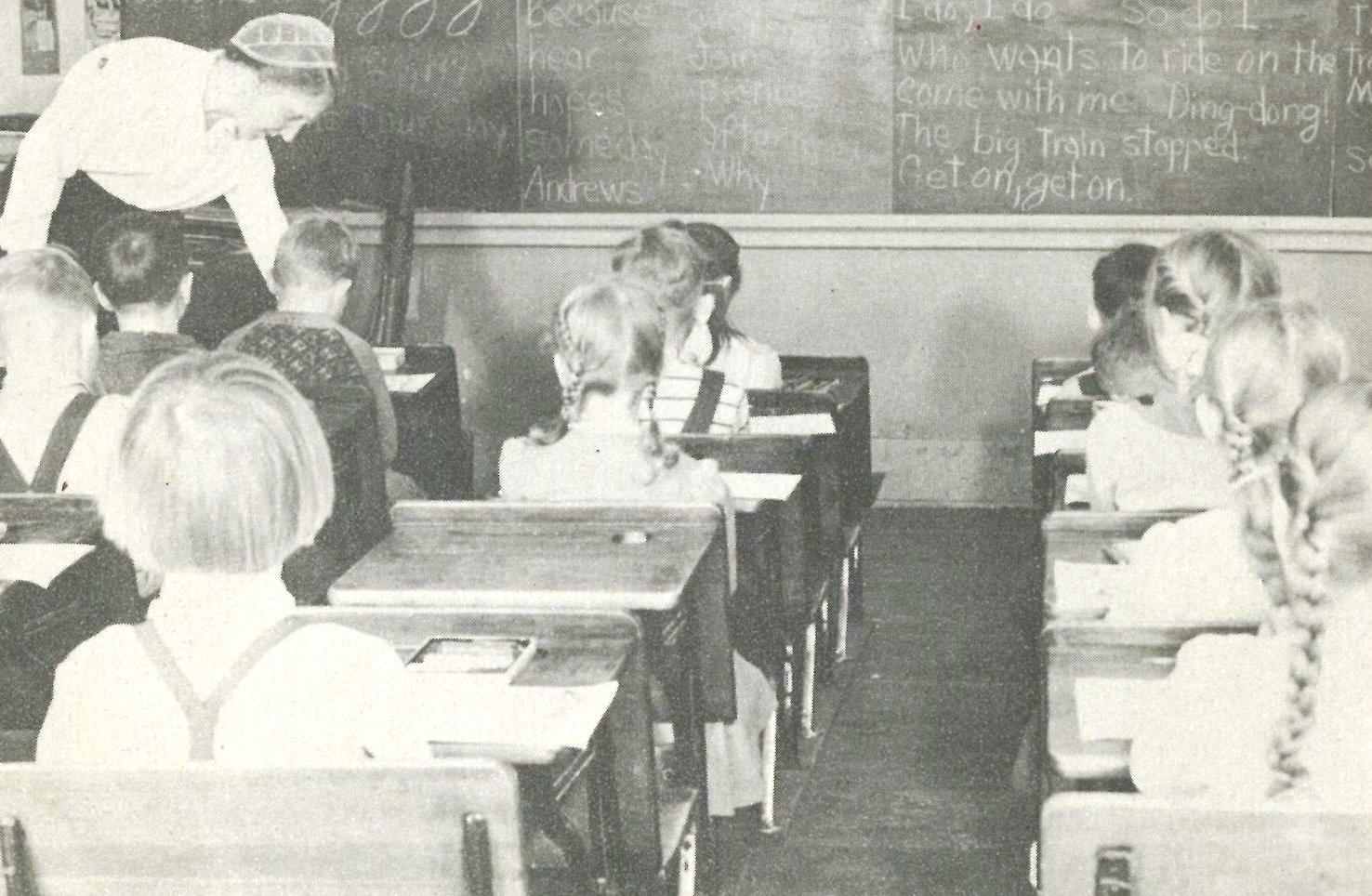 Classroom 1948. Belleville Mennonite School. Established Within Calendar For Mifflin County School District In Pa