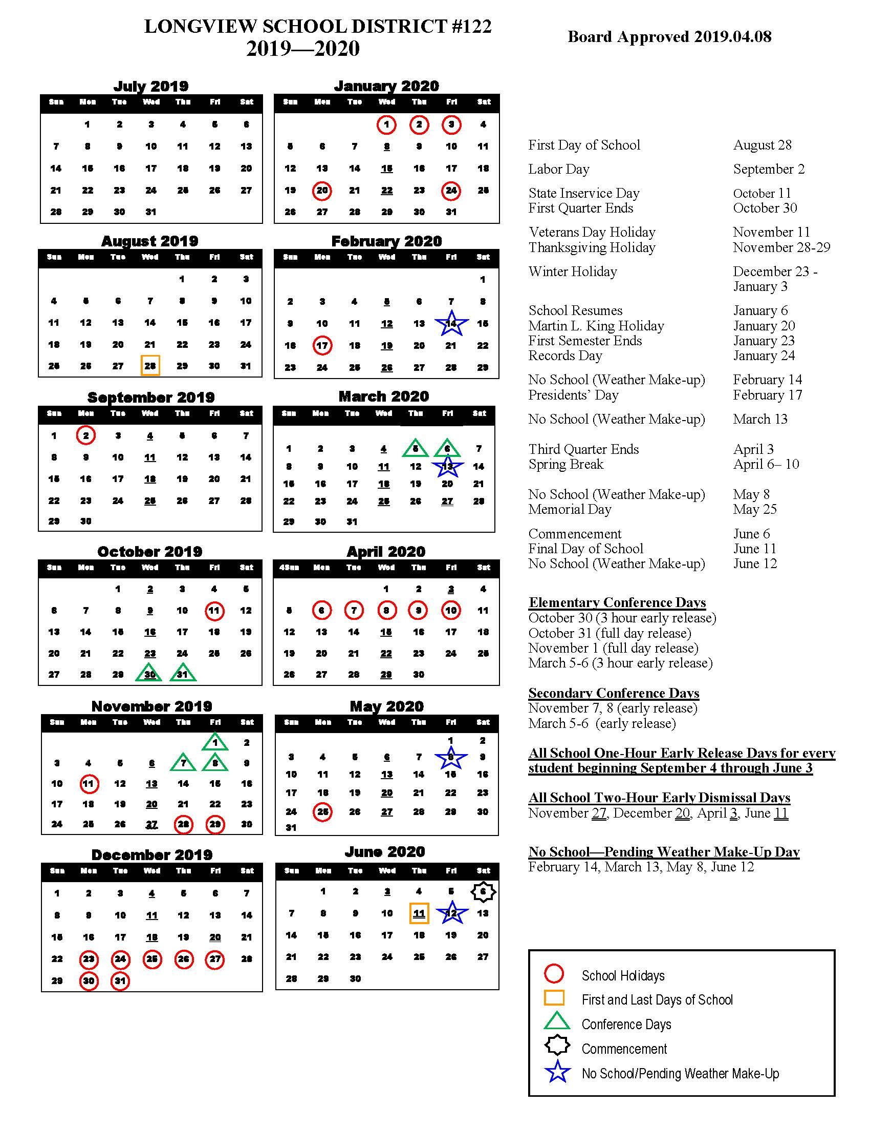 Columbia County School Calendar 2020   Free Printable Calendar Regarding Free Calendars Georgia Website