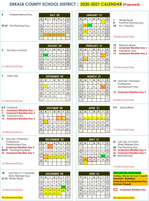 Dekalb County Tn School Calendar 2021 22 | Christmas Day 2020 with Davidson County School Calendar 2021