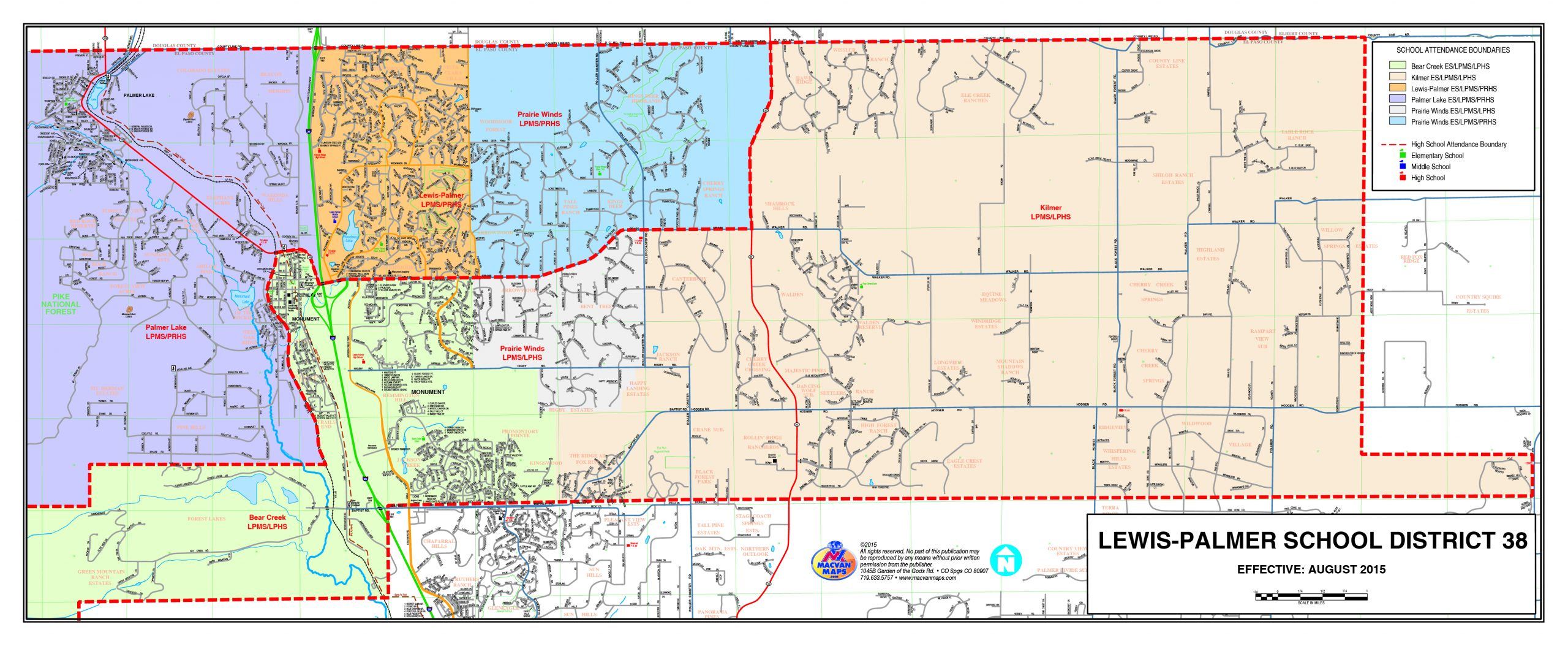 District Overview And Maps / Attendance Boundaries And Non For Colorado Springs District 20 Calendar