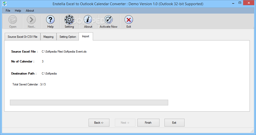 Download Enstella Excel To Outlook Calendar Converter 1.0 Inside Convert Excel To Calendar