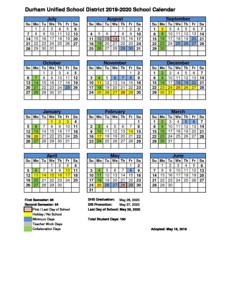 Durham Public Schools 2021 Calendar | Printable Calendar 2020 2021 Pertaining To Aiken County Public School Website Calendar