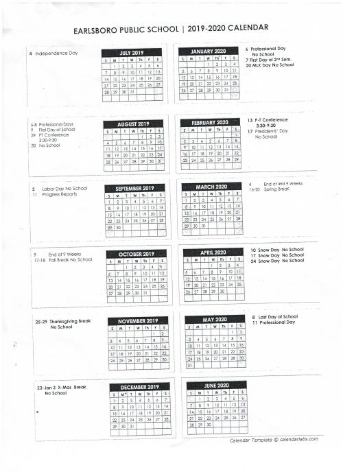 Earlsboro Public Schools Calendar 2020 - Publicholidays Pertaining To Elk River School District Calendar 2020 2021