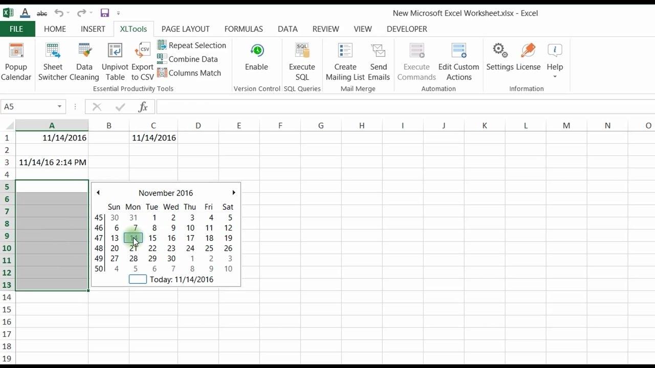 Easy How To Add Drop Down Dates In Excel   Calendar Regarding Simple Calendar Day Conversion Excel