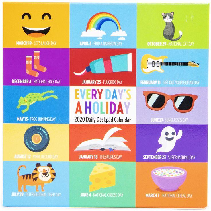 'Every Day's A Holiday' 2020 Daily Deskpad Calendar In 2020 | Desk Pad, Holiday, Calendar For Every Holiday Calendr