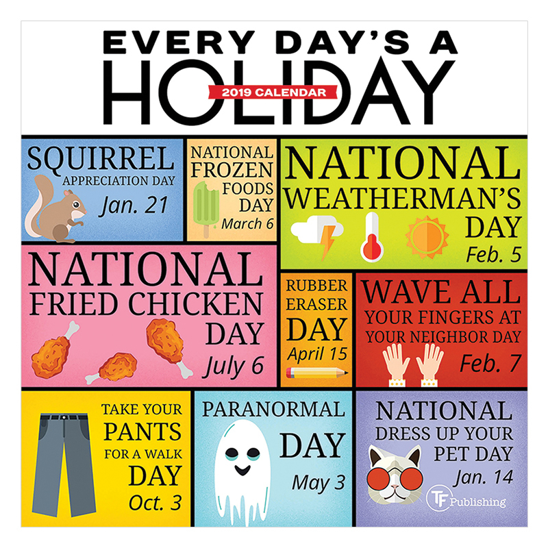 Every Day'S A Holiday 2019 Mini Wall Calendar - Franklin Throughout Every Day A Holiday Calendar