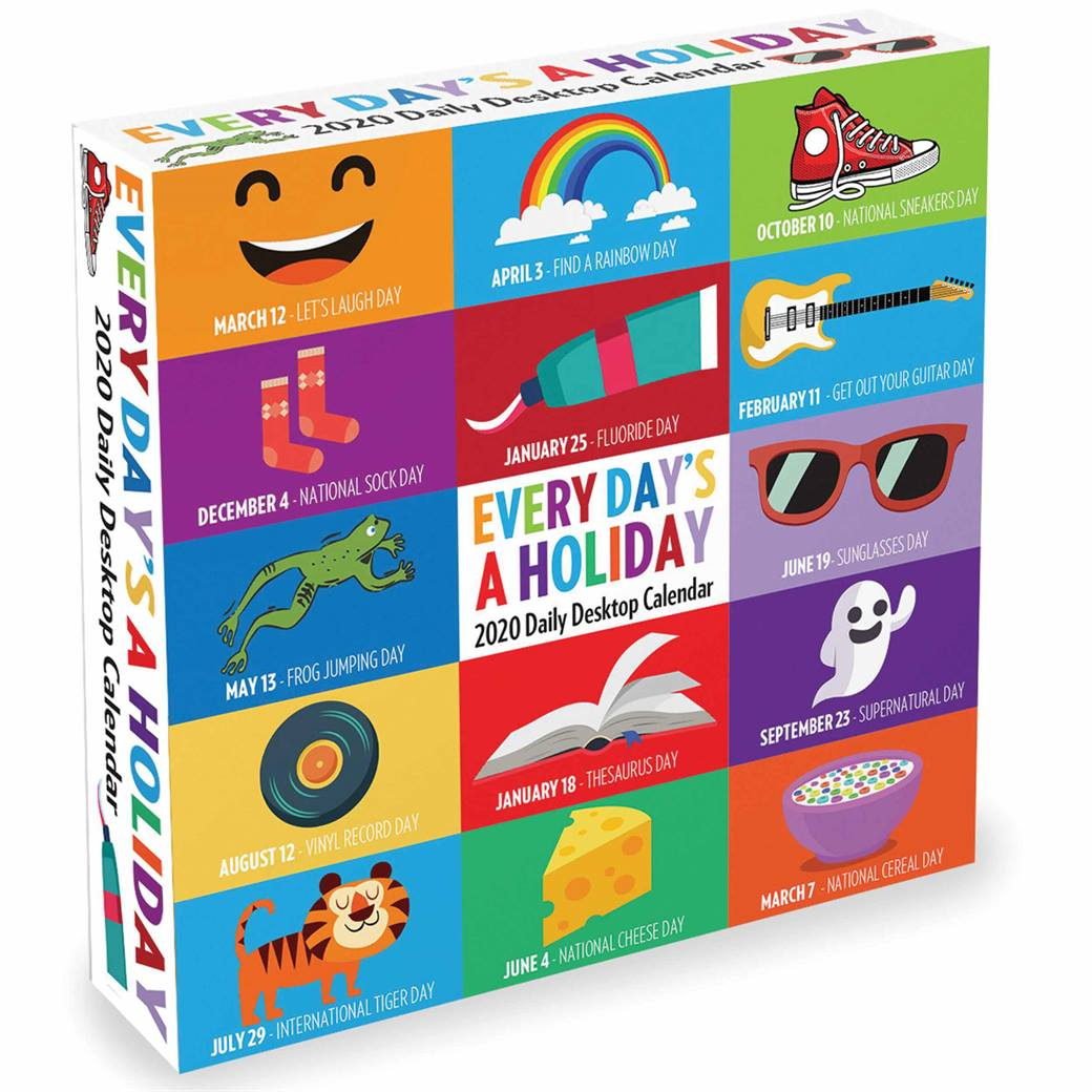 Every Day'S A Holiday Desk Calendar 2020 At Calendar Club With Every Day A Holiday Calendar