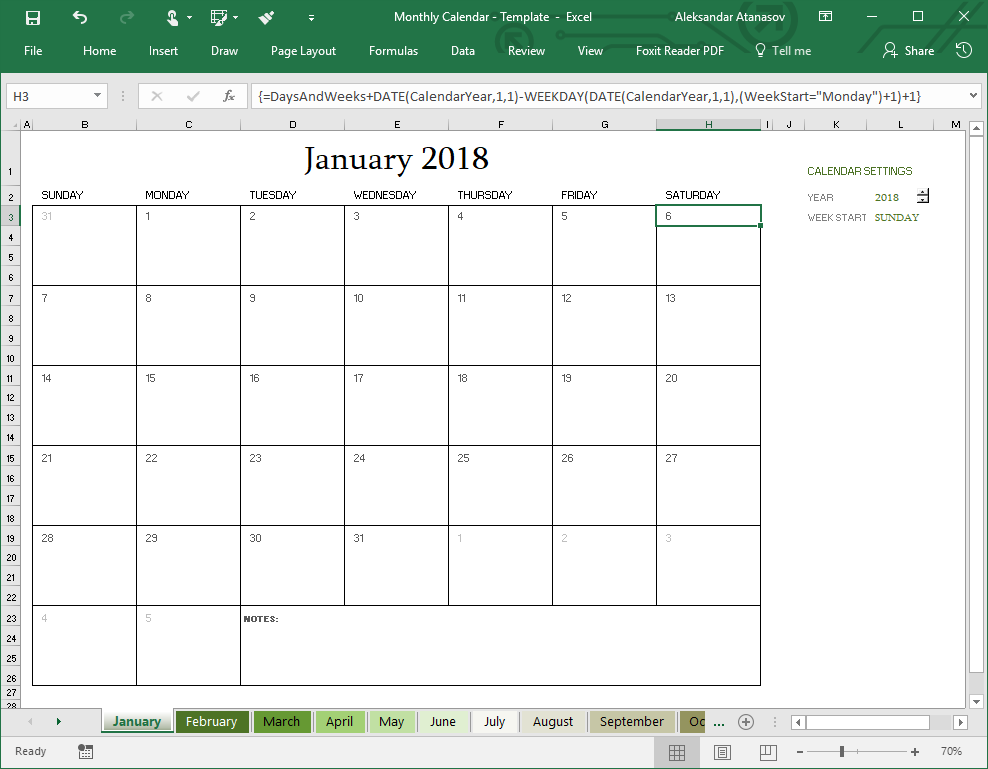 Excel: Formula To Fill Dates In A Weekly Calendar - Stack Within Excel Data To Calendar