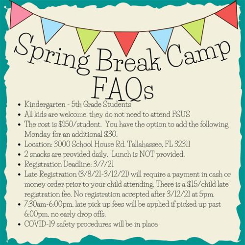 Extended Day/Summer Camp / Spring Break Camp 2021 Regarding District 20 Spring Break 2021
