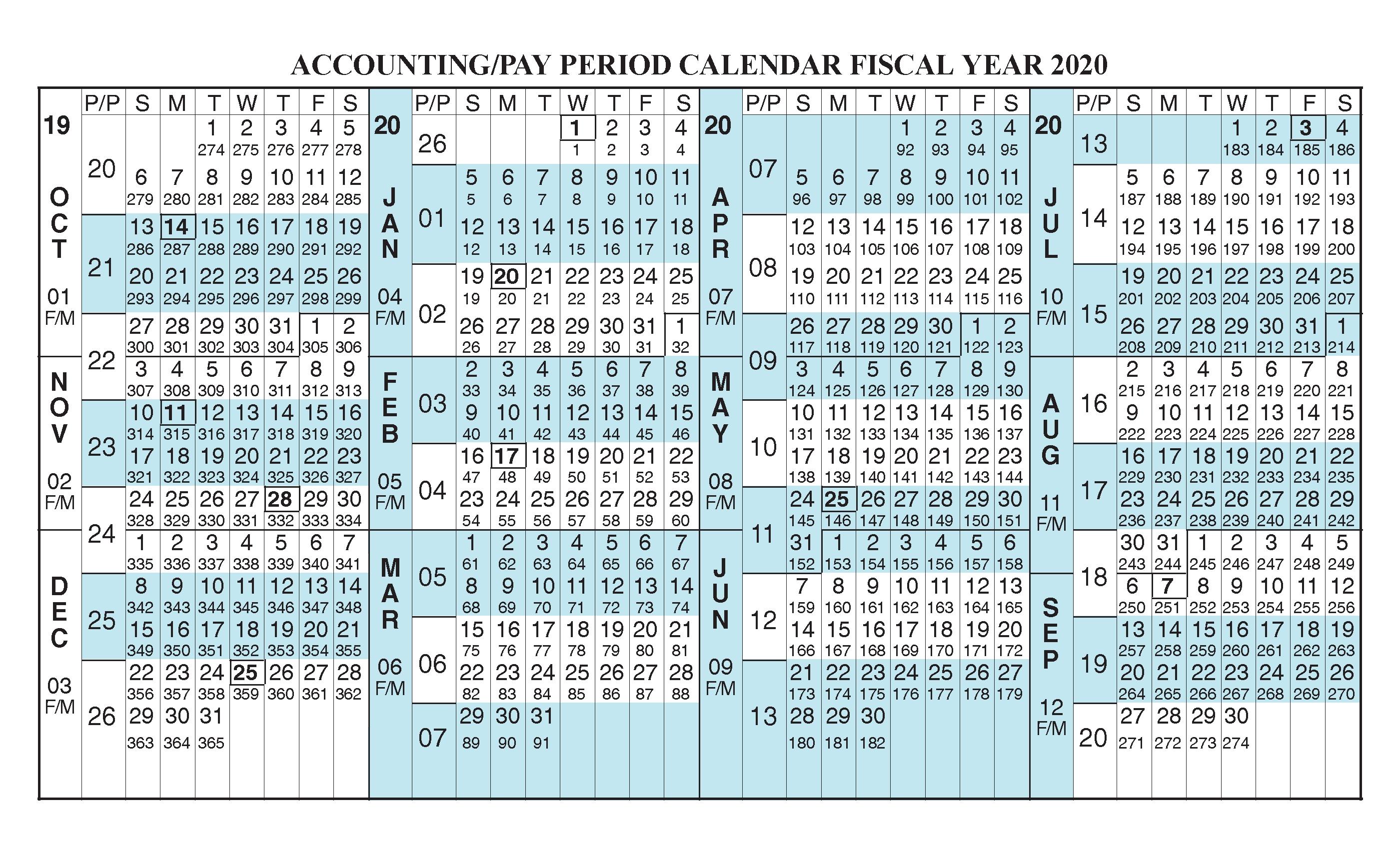 Federal Pay Period Calendar 2020 - Calendar Inspiration Design within 454 Calendar 2021