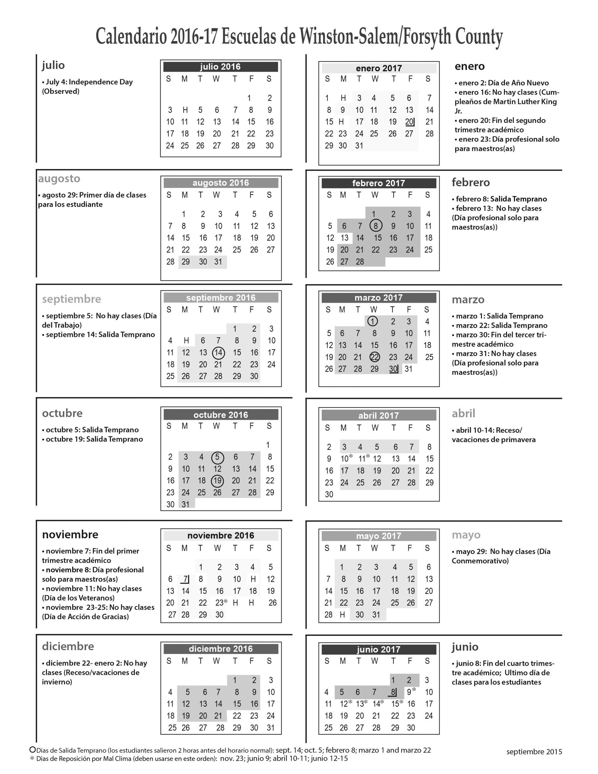 Forsyth County Calendar 2020   Free Printable Calendar Regarding Winston Salem Forsyth County Schools Calendar Pdf