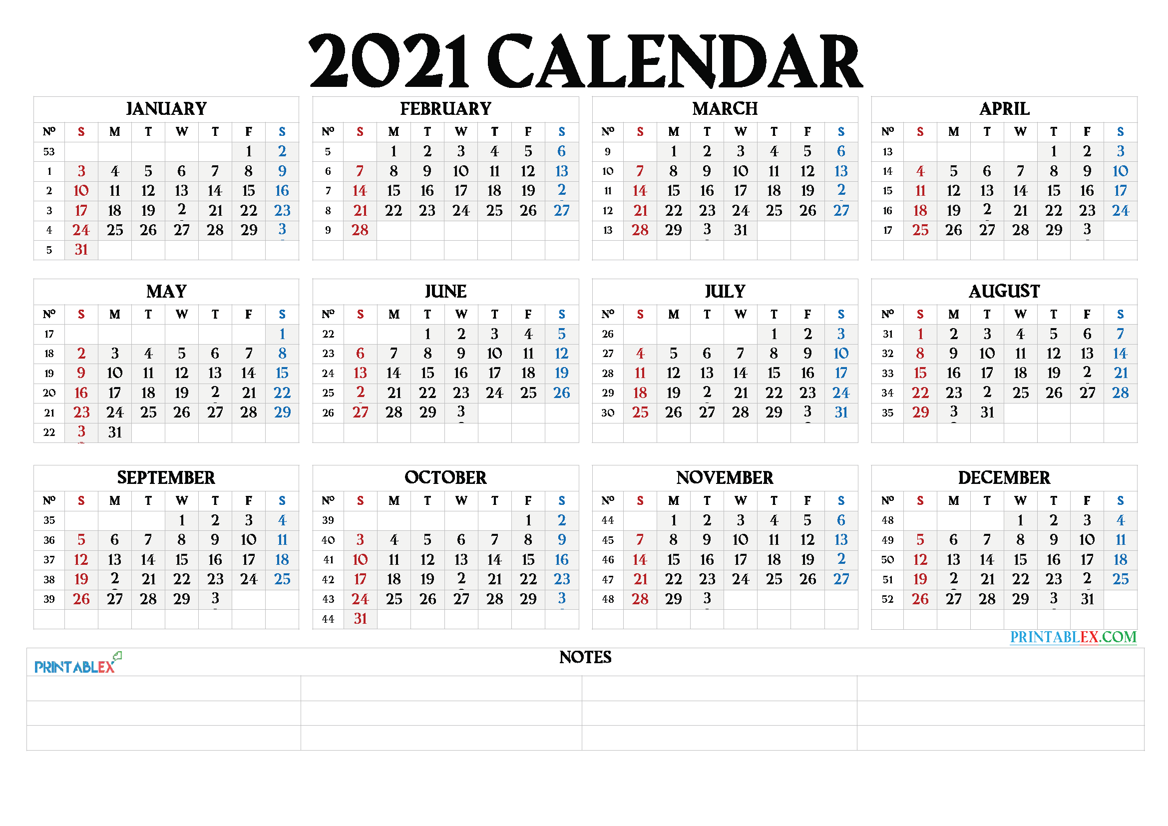 Free 12 Month Word Calendar Template 2021 : 2021 Calendar Throughout Every Day Is A Holiday Calendar 2021 Printable