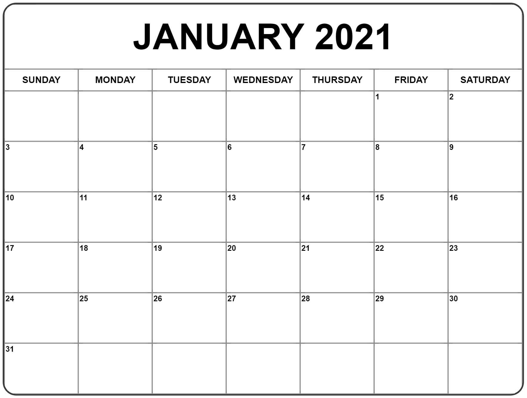 Free January 2021 Calendar Printable Blank Templates Regarding Printable Sunrise And Sunset Calander 2021