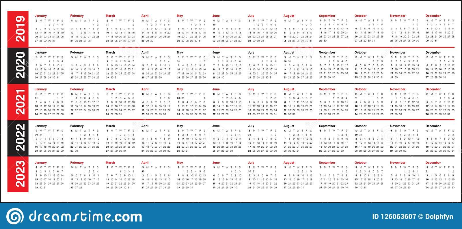 Free Prinable Calenders 2020 To 2023   Calendar Template Regarding 4 5 4 Retail Calendar 2019 2022