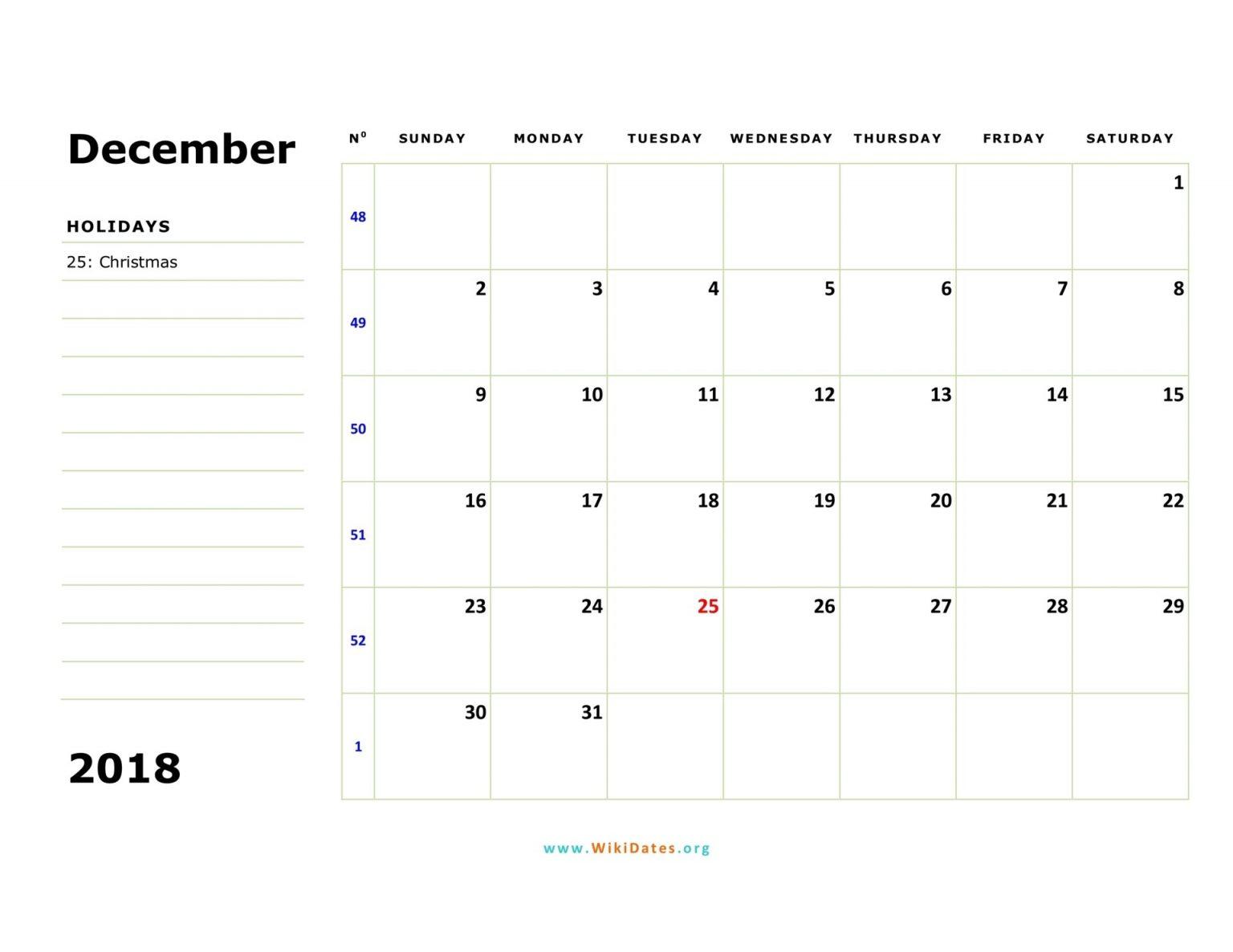 Free Weekly Numbered 52 Week Calendar Printable :-Free with 52 Week Calendar