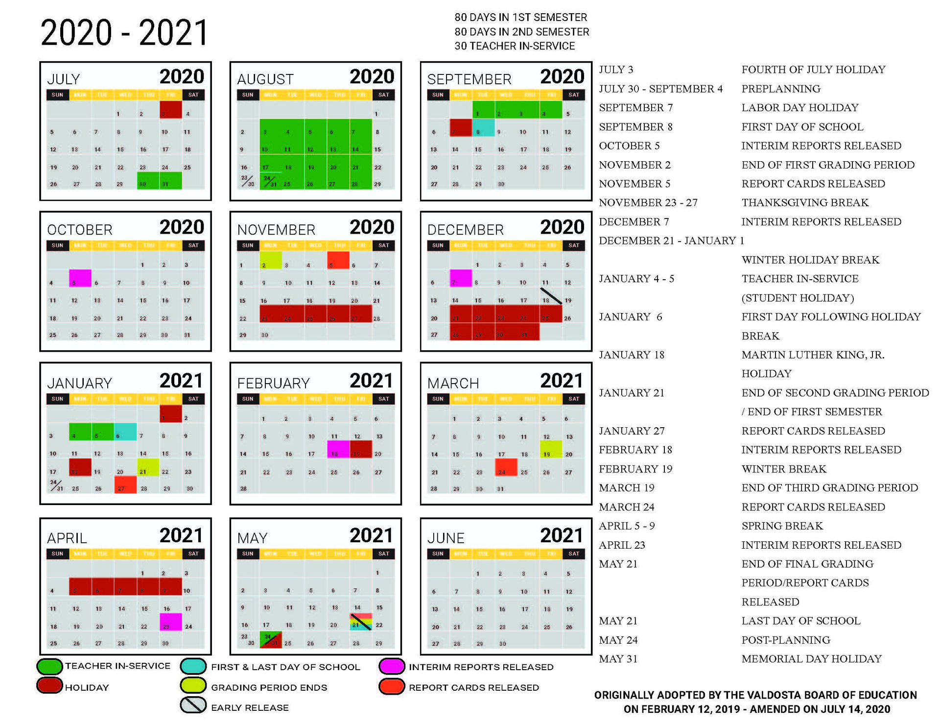 Georgia State Academic Calendar 2021 2020   Printable Pertaining To Free Calendars Georgia Website