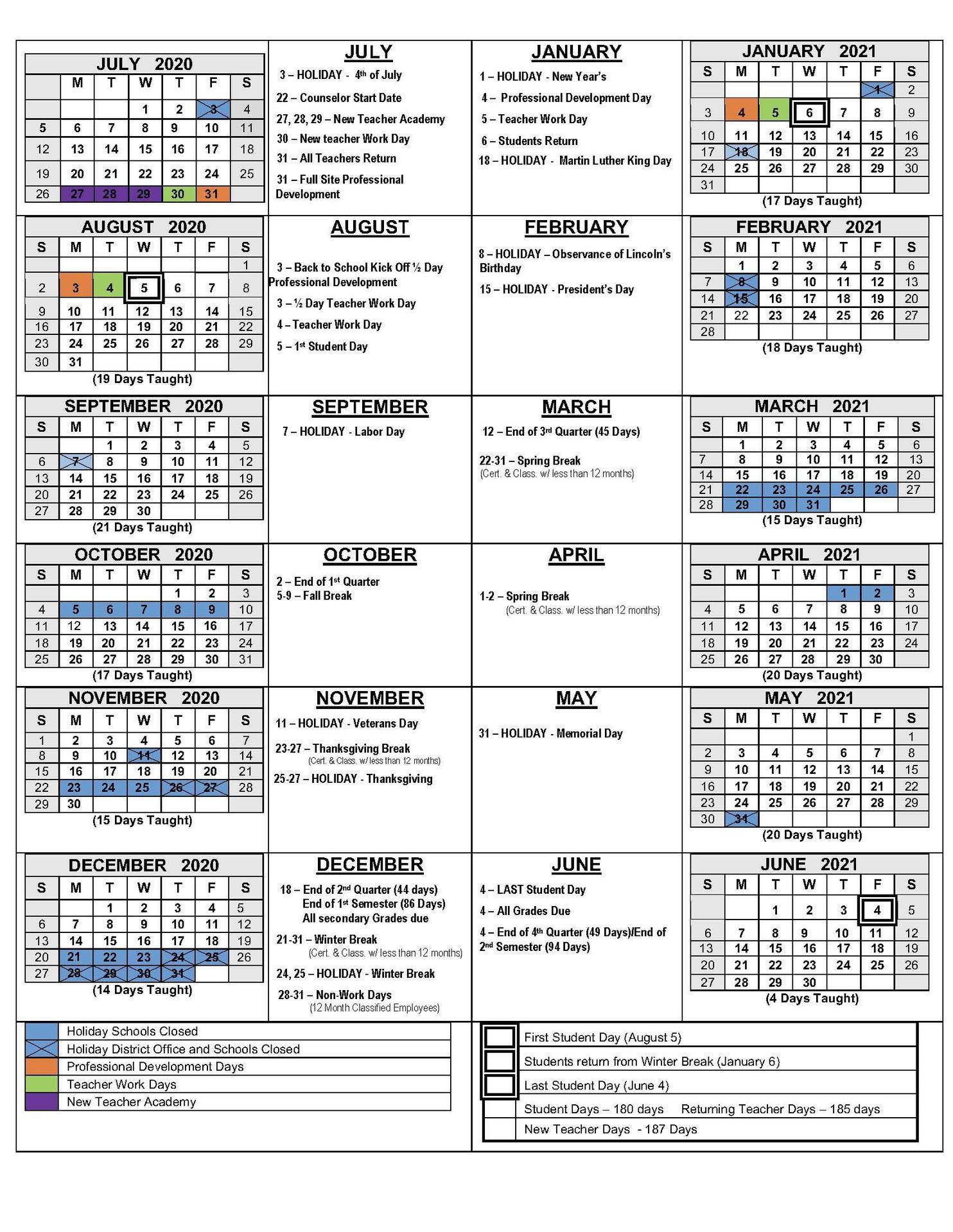 Gilroy Unified School District Calendar 2021 | Printable Regarding Wilkes Barre Area School District Calander 2021