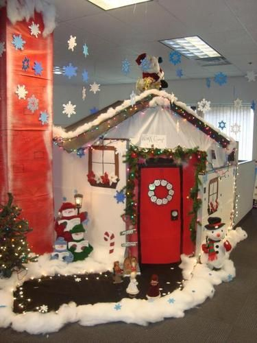 Holiday Cubicle Decorating At Work | Luuux | Christmas Inside Office Work Holiday Fun