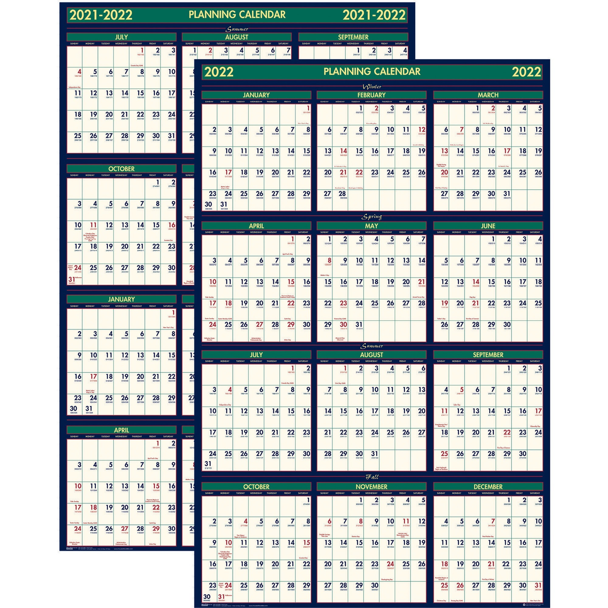 House Of Doolittle 3 Month Horizontal Wall Calendar – Julian Dates – Monthly, Daily – 1.2 Year In Julian Date Conversion 2022