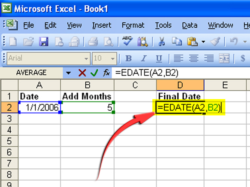 How To Create A Formula To Increase A Date1 Month: 6 Steps For Excel Data To Calendar