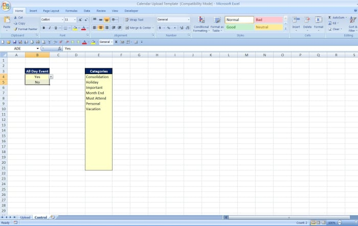 How To Import A Calendar From Excel To Outlook - Turbofuture with Convert Excel Into Word Calendar